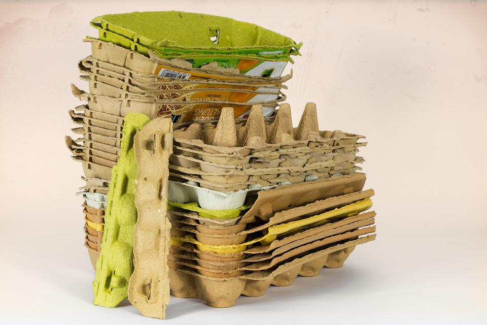 Egg Carton, Recycling, Packaging, Discounter, One Way