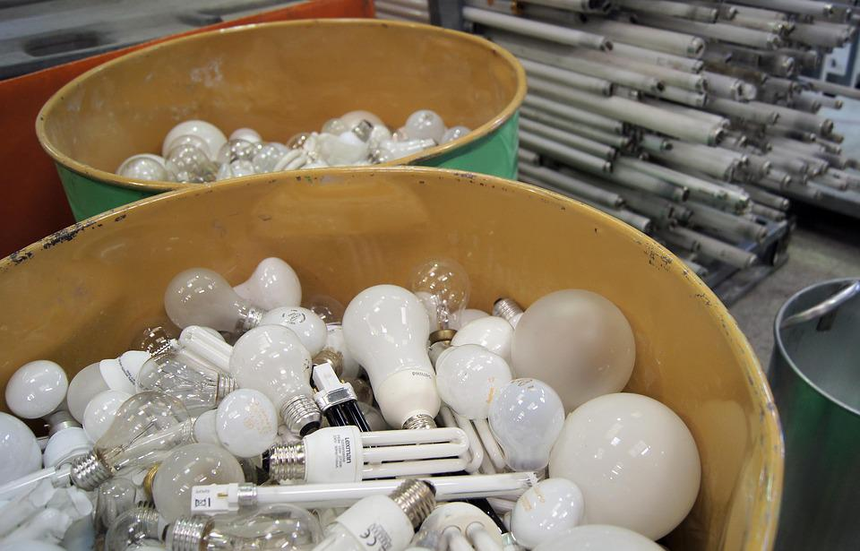Lamps, Recycling, Environment