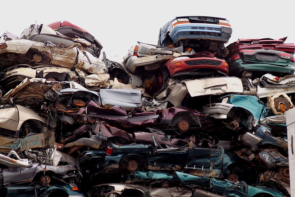 Junk Yard, Cars, Yard, Junk, Old, Metal, Recycling