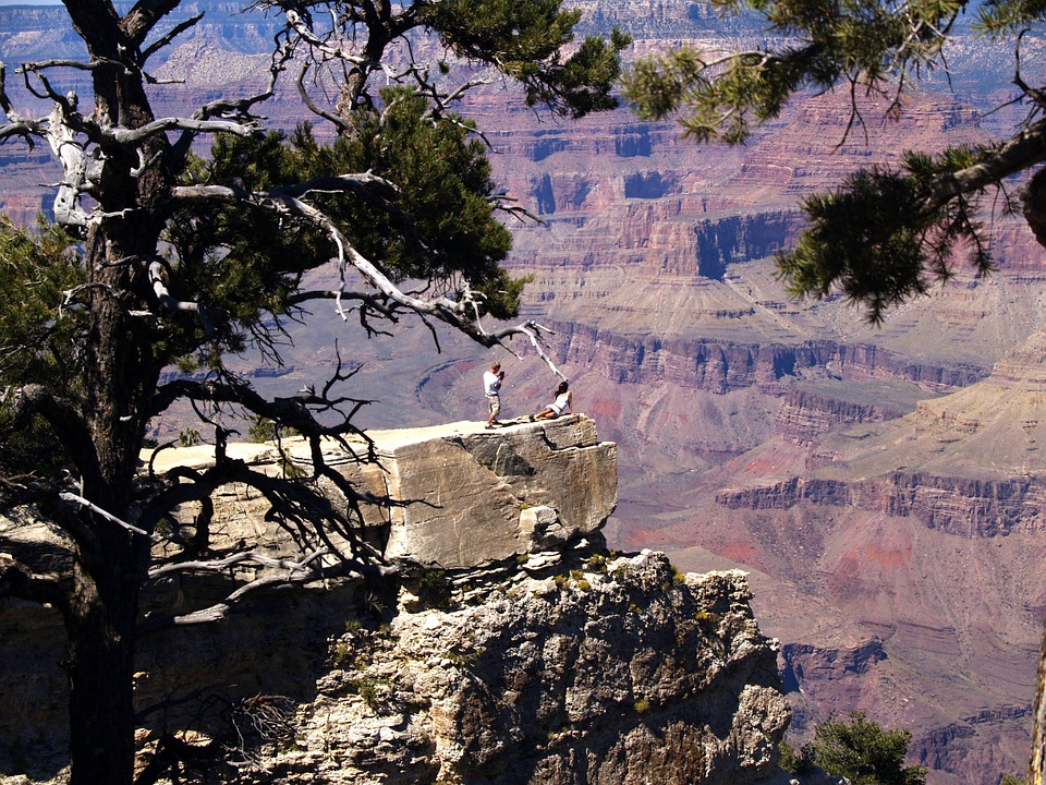Grand Canyon, South Rim, Arizona, Usa, Red, Rocks