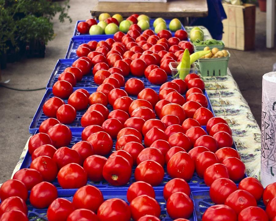Arkansas Market Tomatoes, Red, Food, Tomatoes