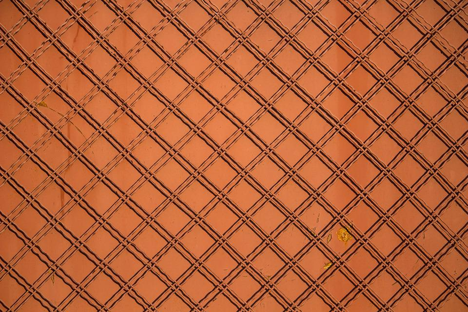 Fence, Fence Grid, Grid, Red Texture, Red Background