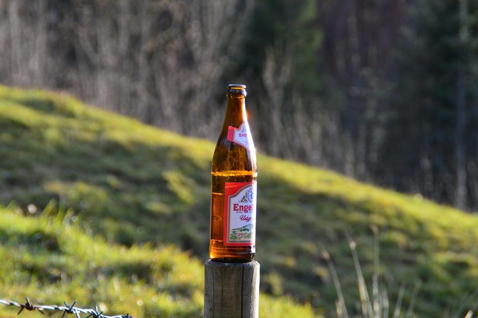 Beer, Beer Bottle, Engelbraeu, Red, Bottle, Bottle Beer