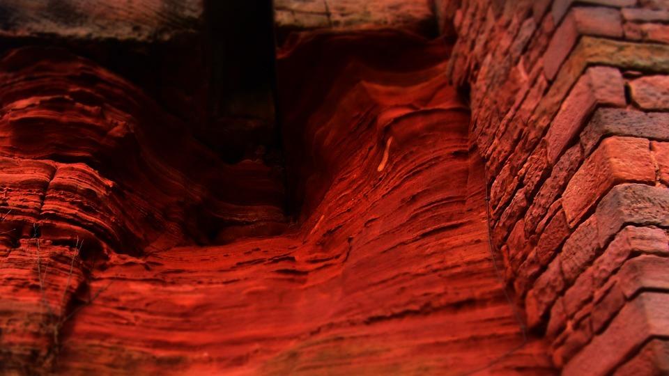 Red Rock, Red Bricks, Bricks, Rock, Red, Old