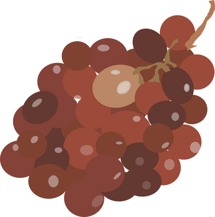 Grapes, Red, Brown, Fruit