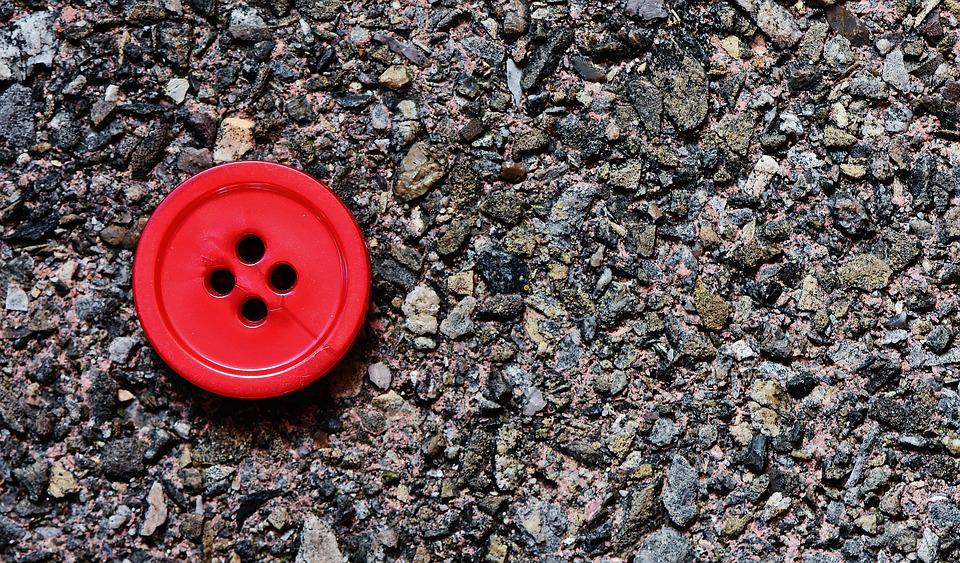 Buttons, 4 Holes, Red, Close, Button, Color