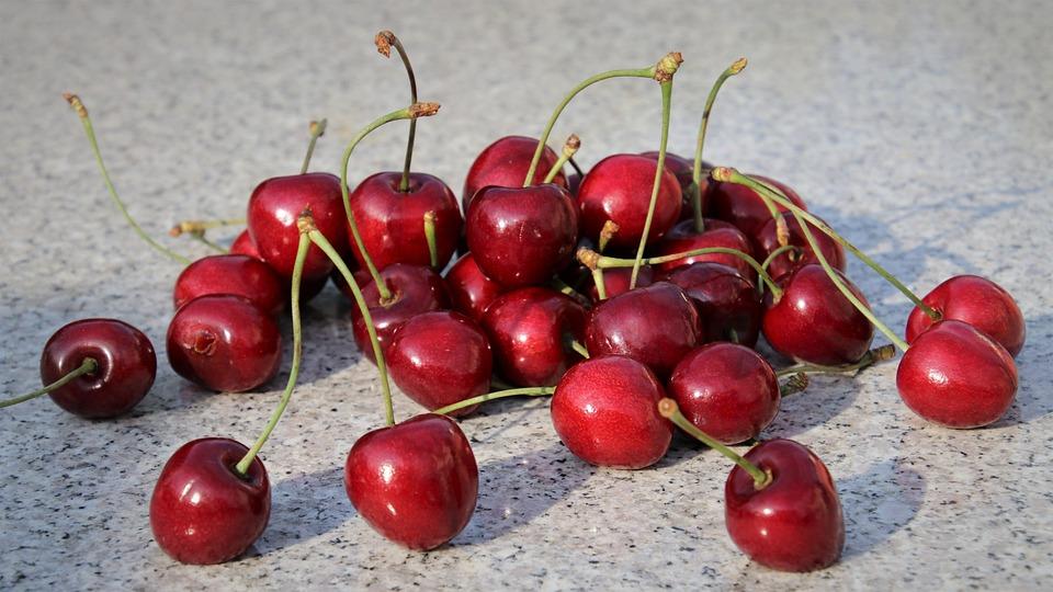 Sweet Cherry, Red, Cherries, Sweet, Fresh, Food, Diet