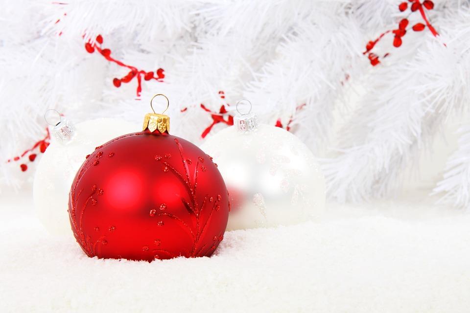 Christmas Bauble, Red, Ball, Celebration, Christmas