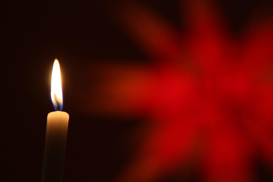 Christmas, Star, Candle, Red, Christmas Time, Light