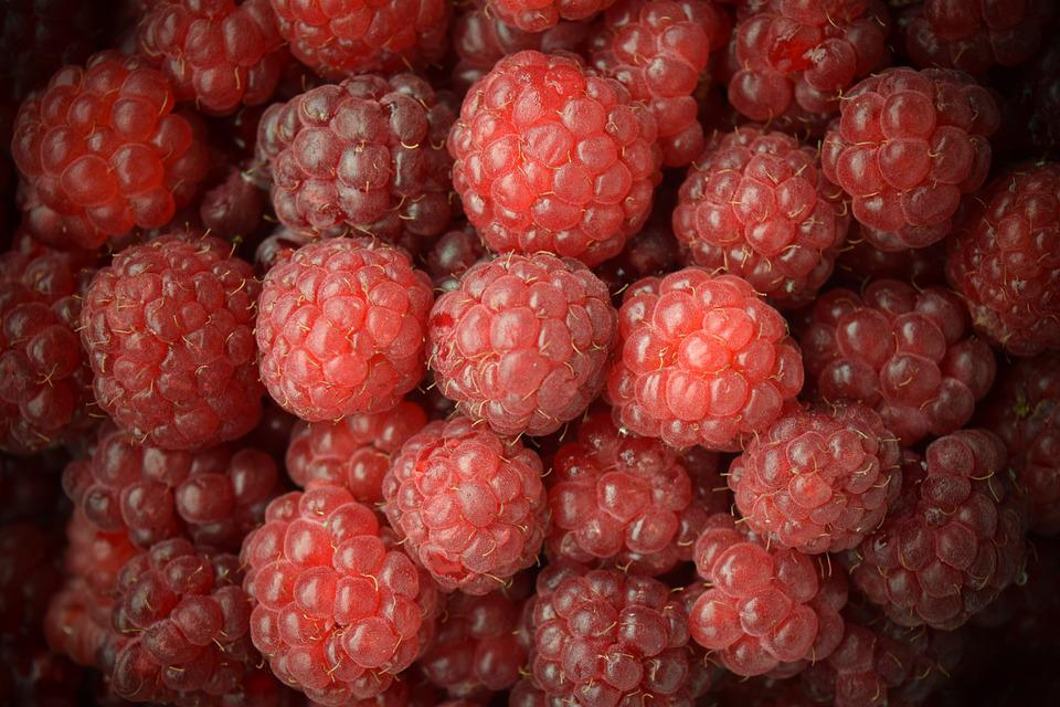 Raspberries, Close, Red, Sweet, Background
