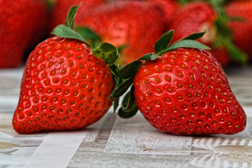 Strawberries, Fruit, Close Up, Fruits, Red, Sweet, Food