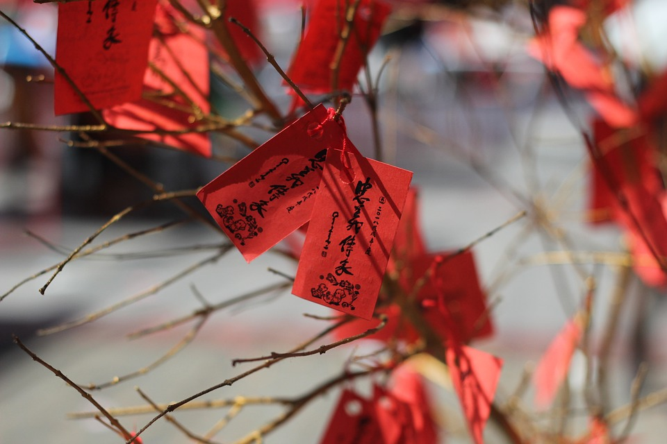 Cny, Chinese New Year, Red, Label, Chinese Writing