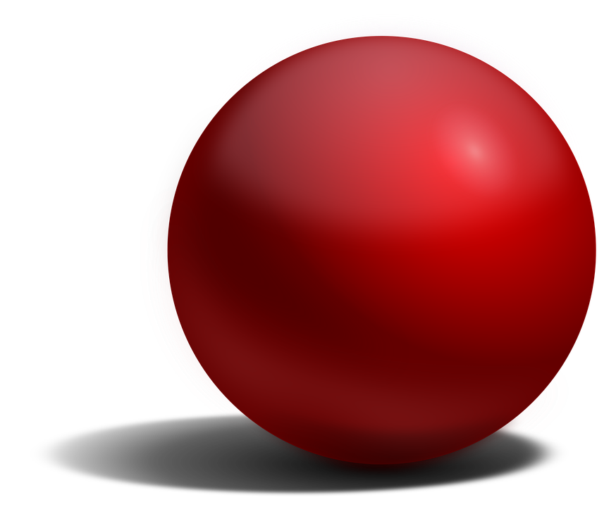 Ball, Detailed, Light And Shadow, Red, Sphere