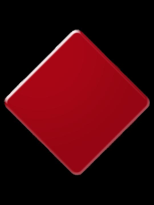Diamond, Red, As, Poker, Color