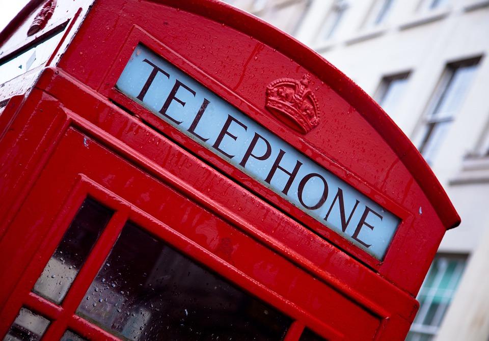 Telephone, London, Red, England, Symbol, Box, Phone