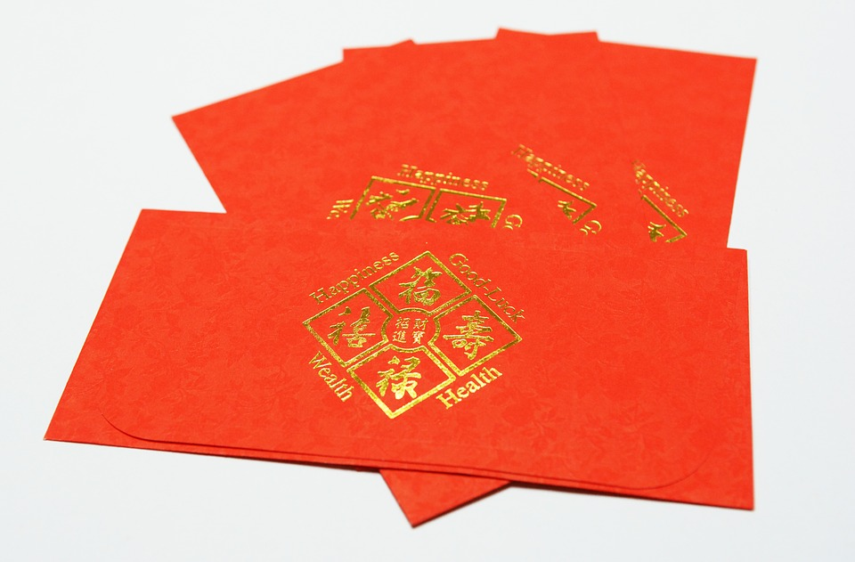Red, New Year, Chinese New Year, Red Envelope