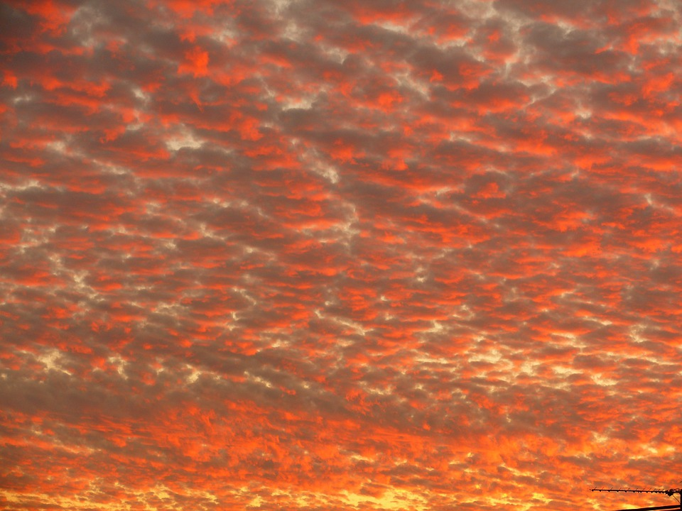 Clouds, Sunset, Red, Sun, Sky, Evening Sky, Mood