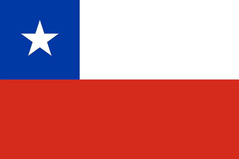 Chile, Blue, Red, Flag, Nationality