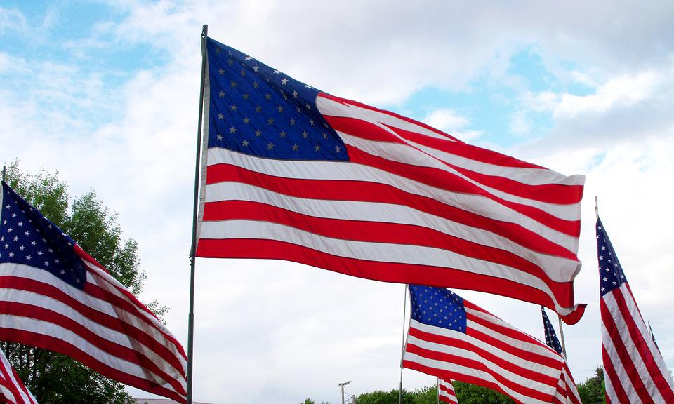 Flag, Memorial Day, 4th Of July, Red, White, Blue