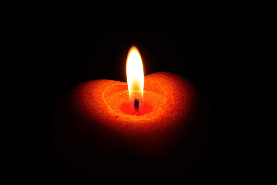 Candle, Flame, Heart, Burn, Red, Candlelight, Light