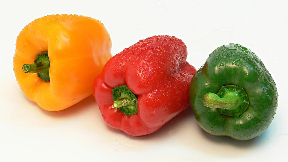 Paprika, Vegetables, Red, Green, Eating, Healthy, Food