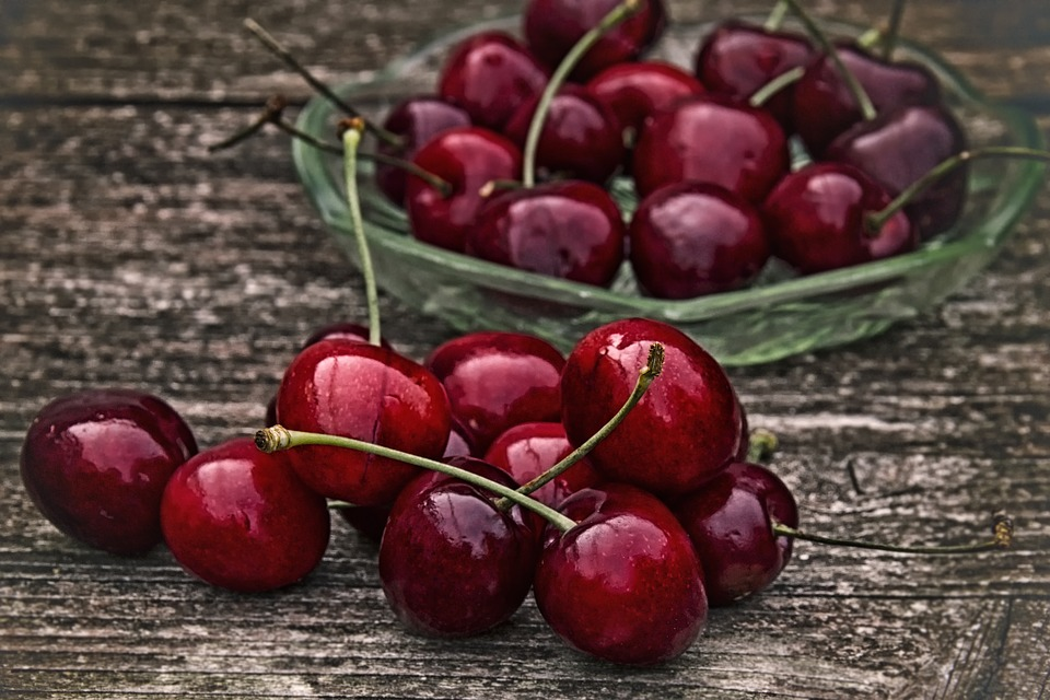Cherry, Retro, Sweet Cherry, Red, Fruit, Healthy