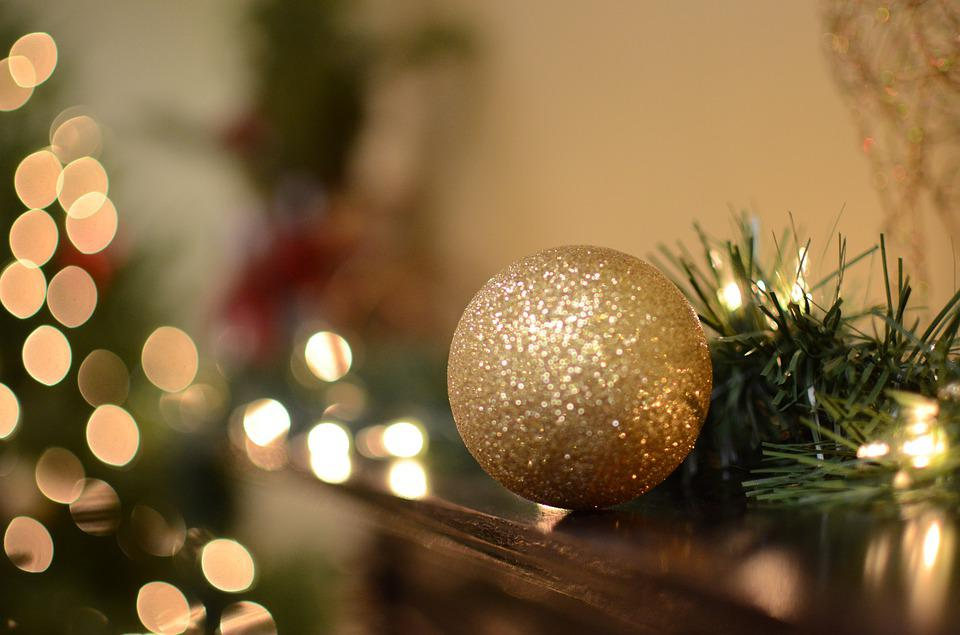 Christmas, Holiday, Tree, Decoration, Red, Gold
