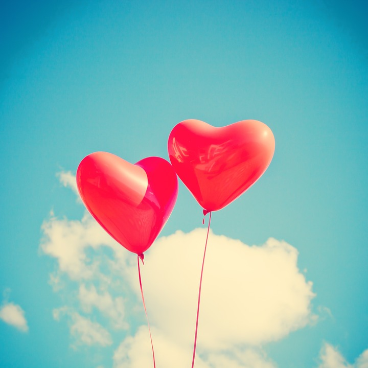 Balloon, Heart, Love, Red, Romantic, Happy, Card