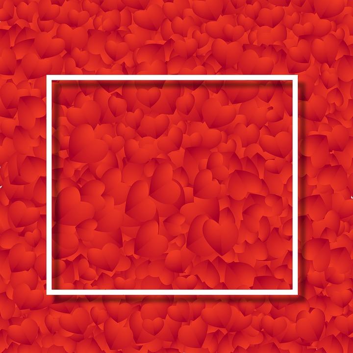 Frame, Heart, Valentine, Red Heart, Red Frame