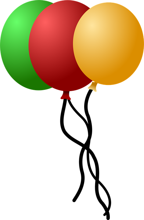 Balloons, Party, Green, Red, Yellow, Helium