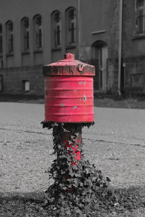 Hydrant, Red, Firefighter Hydrant, Water Tap