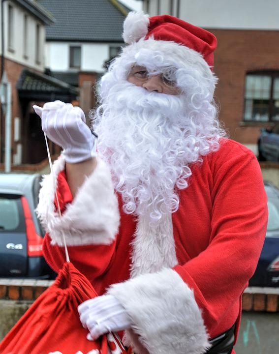 6623d186db456 Free photo Red Jacket Santa Clause White Beard Presents - Max Pixel