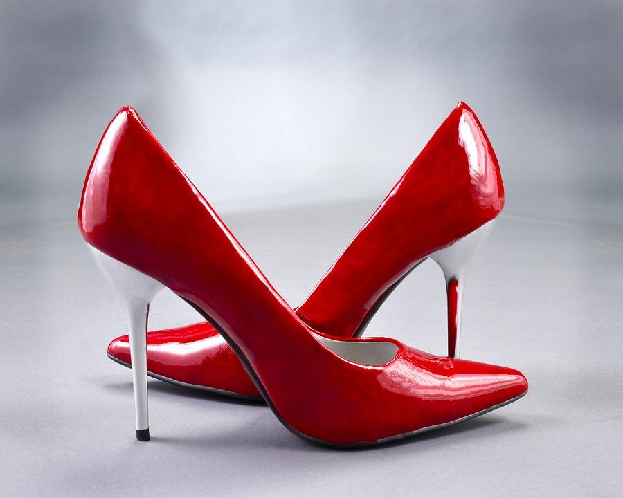 High Heels, Pumps, Red, Ladies Shoes, Pair, Fashion