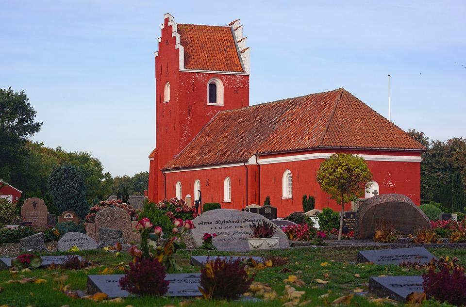 Læsø, Vesterø Church, Denmark, Church, Red