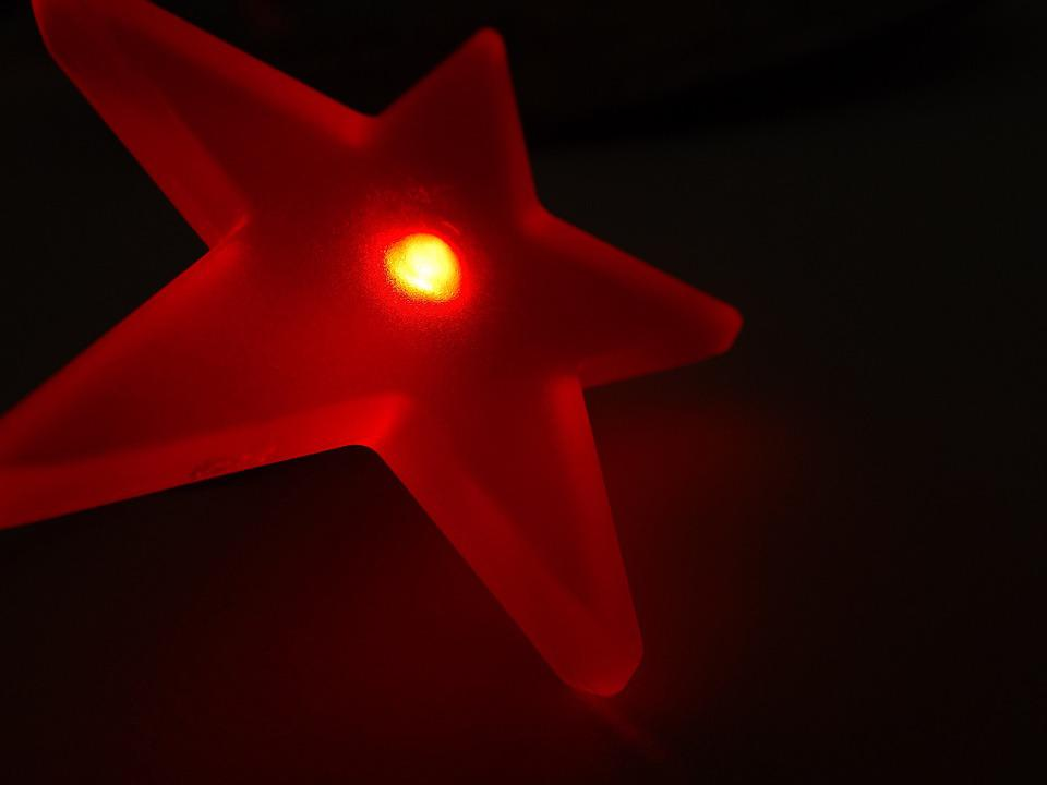 Star, Light, Led, Red, Lighting, Electric, Electricity