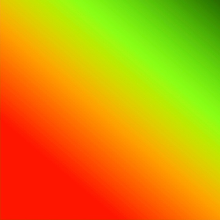 Gradient, Orange, Red, Chartreuse, Green, Lime, Bright