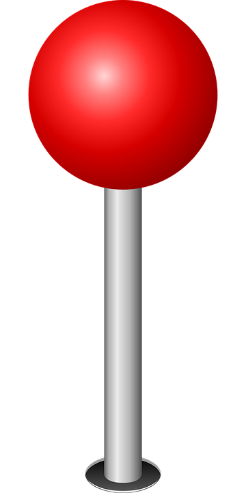 Location, Marker, Red, Sphere