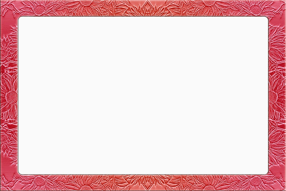 Picture Frame, Floral, Red, Metallic, Simply, Strong