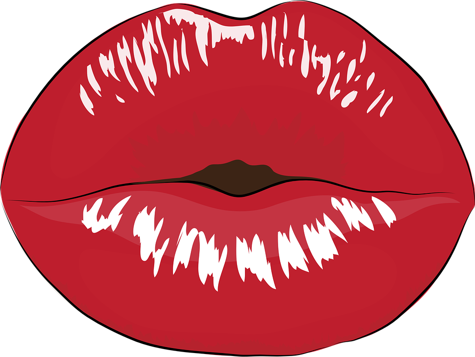 Mouth, Makeup, Kiss, Red