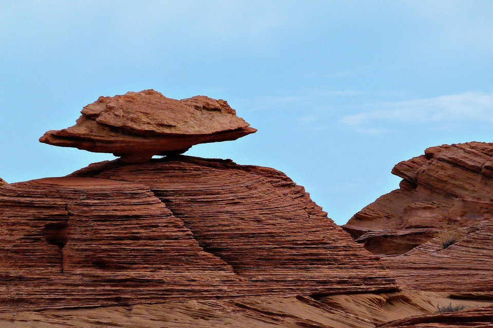 Balanced, Red, Rock, Erosion, Nature, Scenery, Desert
