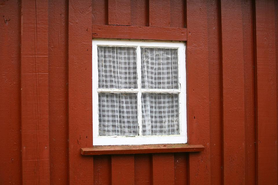 Window, Old Window, Old House, Wooden House, Red, Aged