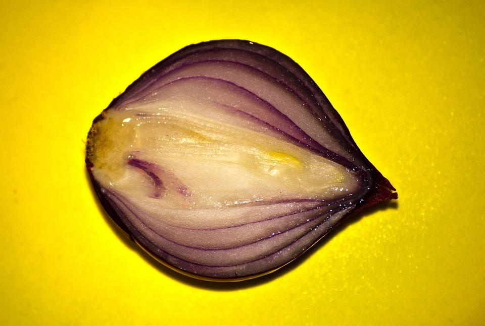 Red Onion, Vegetable, Cut, Sliced, Onion, Food, Fresh