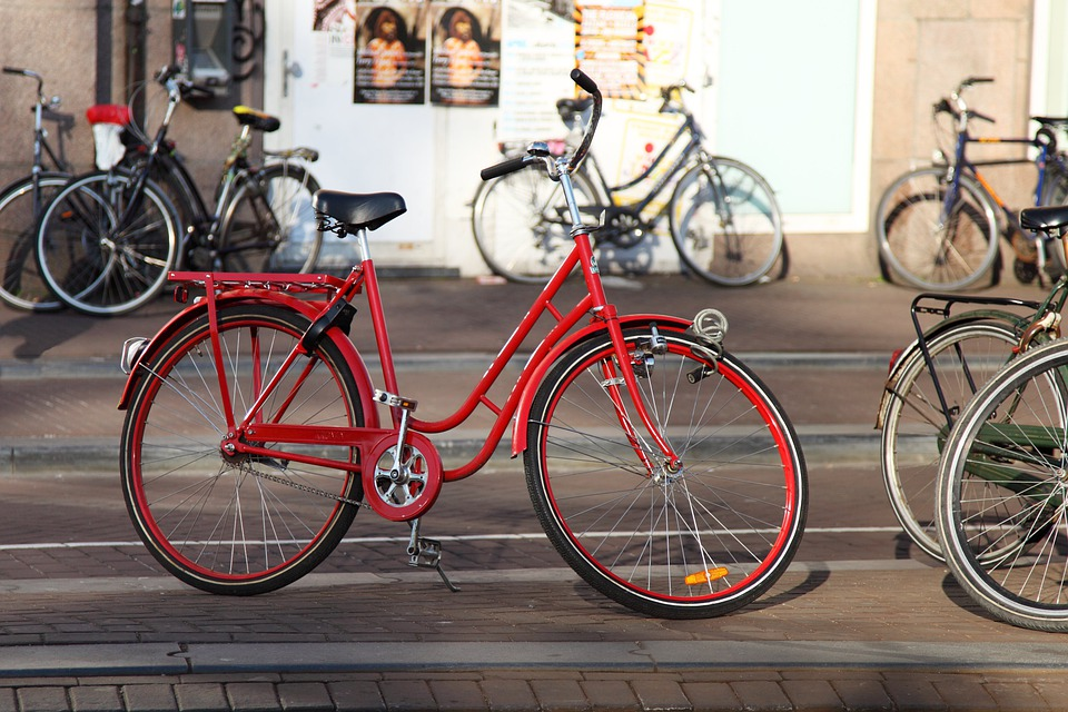 Bicycle, Bike, Cycle, Metal, Outside, Pedal, Red, Ride