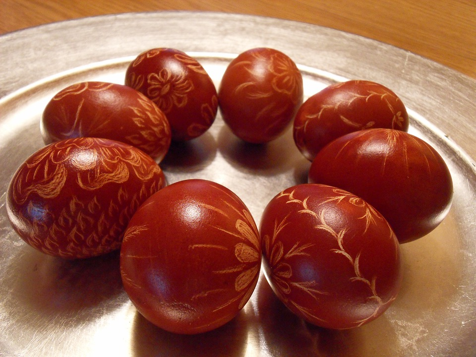 Easter, Eggs, Red, Oval, Shapes, Shaped, Decorative