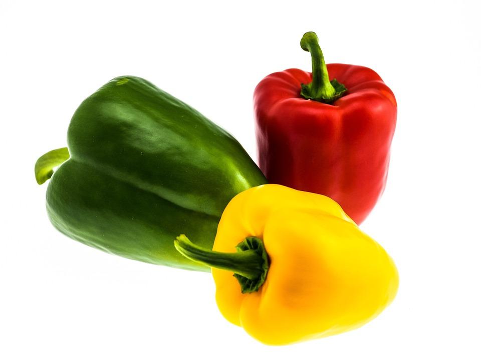 Paprika, Vegetables, Red Pepper, Food, Green