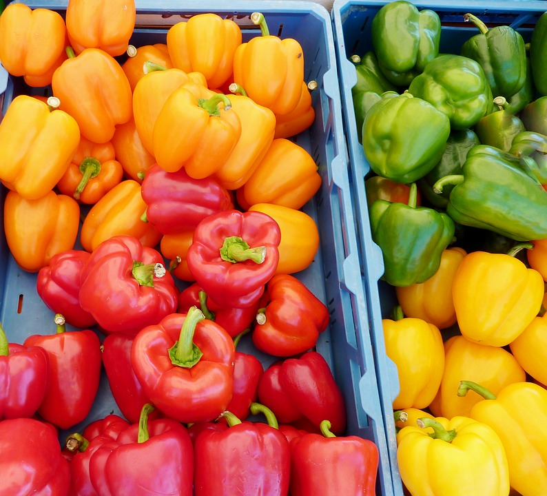 Paprika, Yellow, Red Pepper, Green Peppers