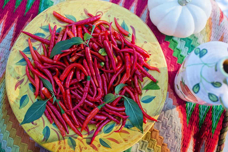 Hot Peppers, Red Peppers, Harvest, Food, Red, Pepper