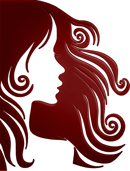 Woman, Hair, Face, Red, Girl, Person, Silhouette