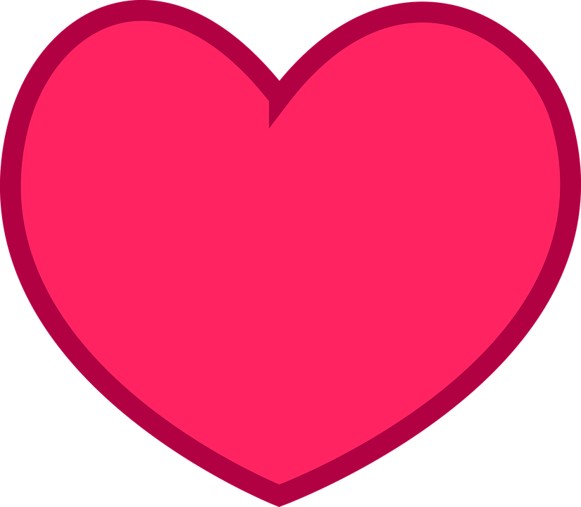 Flat, Heart, Love, Pink, Red, Romance, Rosa, Simple