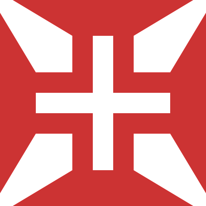 Cross, Red, Portuguese, Air, Force, Symbol, Sign